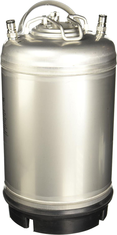 Varies - AMCYL CKN3-SH 3 gal Keg New Ball Lock Beer, Soda or Tea, Silver
