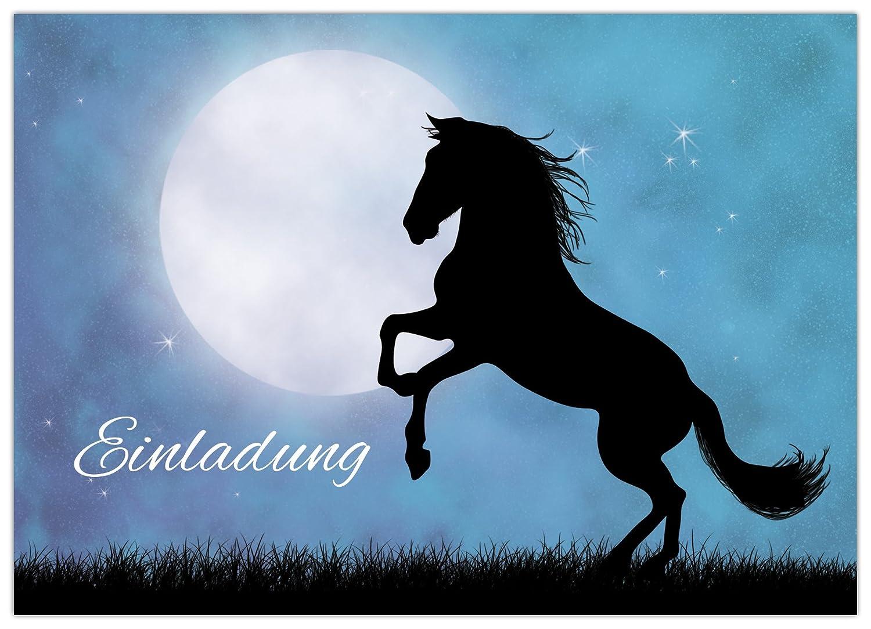 10 Pferde Einladungskarten
