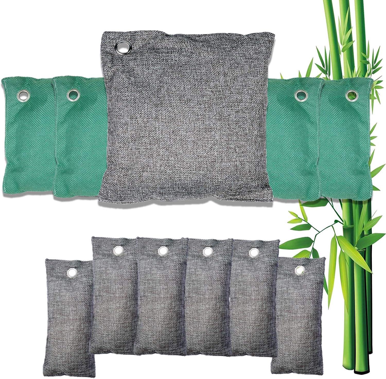 ZBSM 5 Pack Natural Bamboo Charcoal Air Purifying Bag Nature Fresh Air Purifier Bags Activated Charcoal
