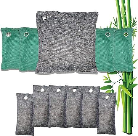 Tiamu 5 Pack Natural Bamboo Charcoal Air Purifying Bag Nature Fresh Air Purifier Bags Activated Charcoal