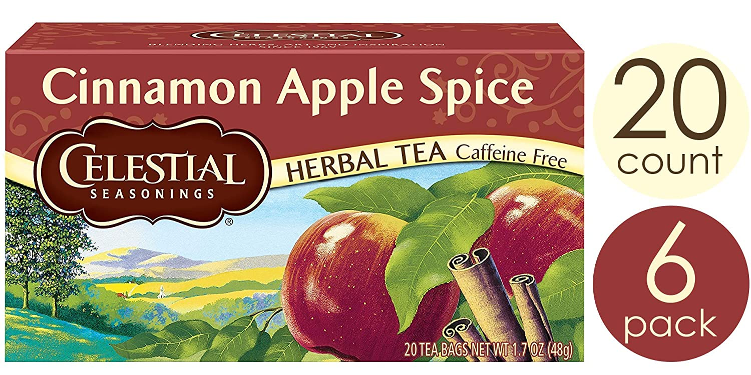 Celestial Seasonings Herbal Tea, Cinnamon Apple Spice, 20 Count (Pack of 6)
