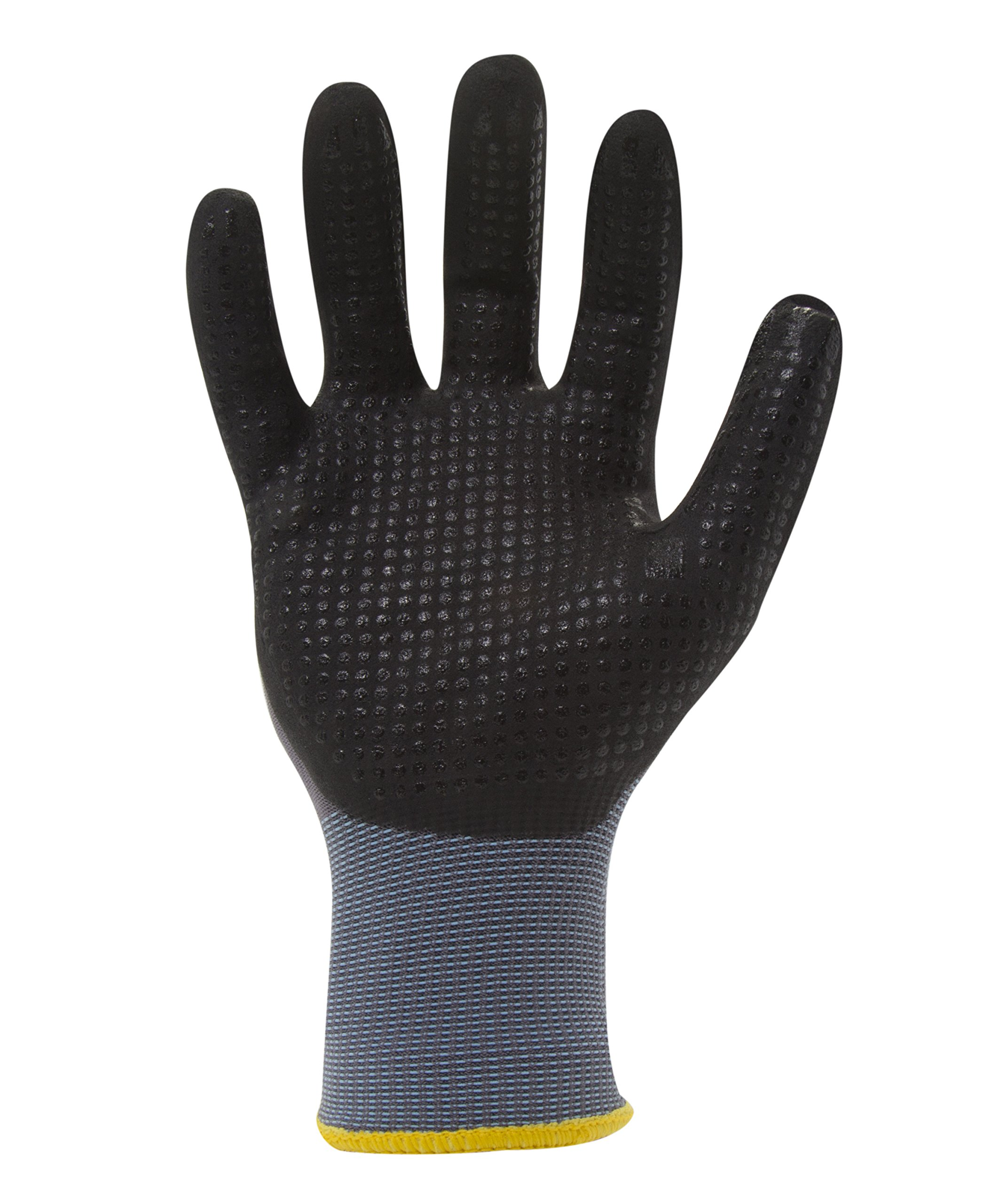 212 Performance Gloves AXDG-16-010 AX360 Dotted Grip Nitrile-dipped Work Glove, 12-Pair Bulk Pack, Large by 212 Performance Gloves (Image #3)