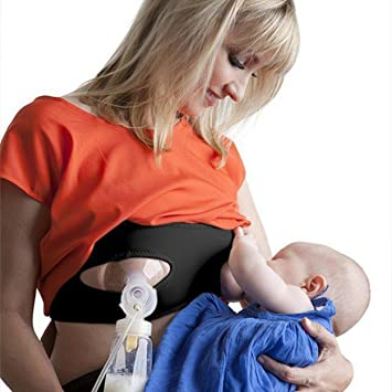 f7bb76b35a Pump Strap Hands Free Pumping Bra - breastpump and nursing - xs - xl -  Beige  Amazon.de  Baby