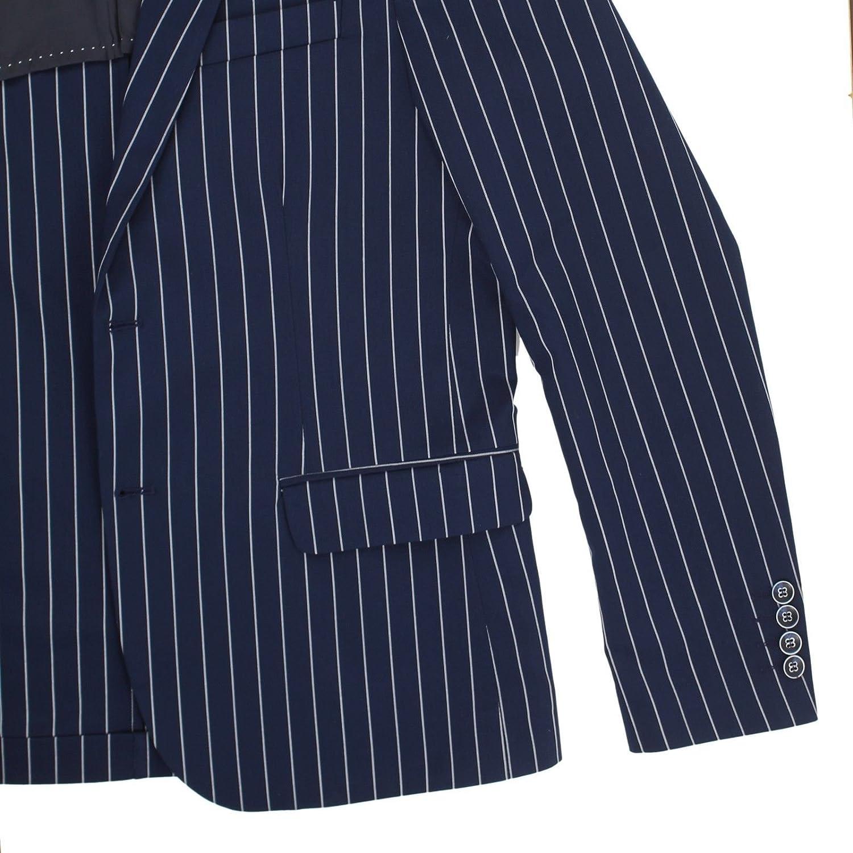 299b1368a5ab7 Abito Uomo Gessato Elegante Cerimonia Slim Fit Vestito Sartoriale Completo  Blu