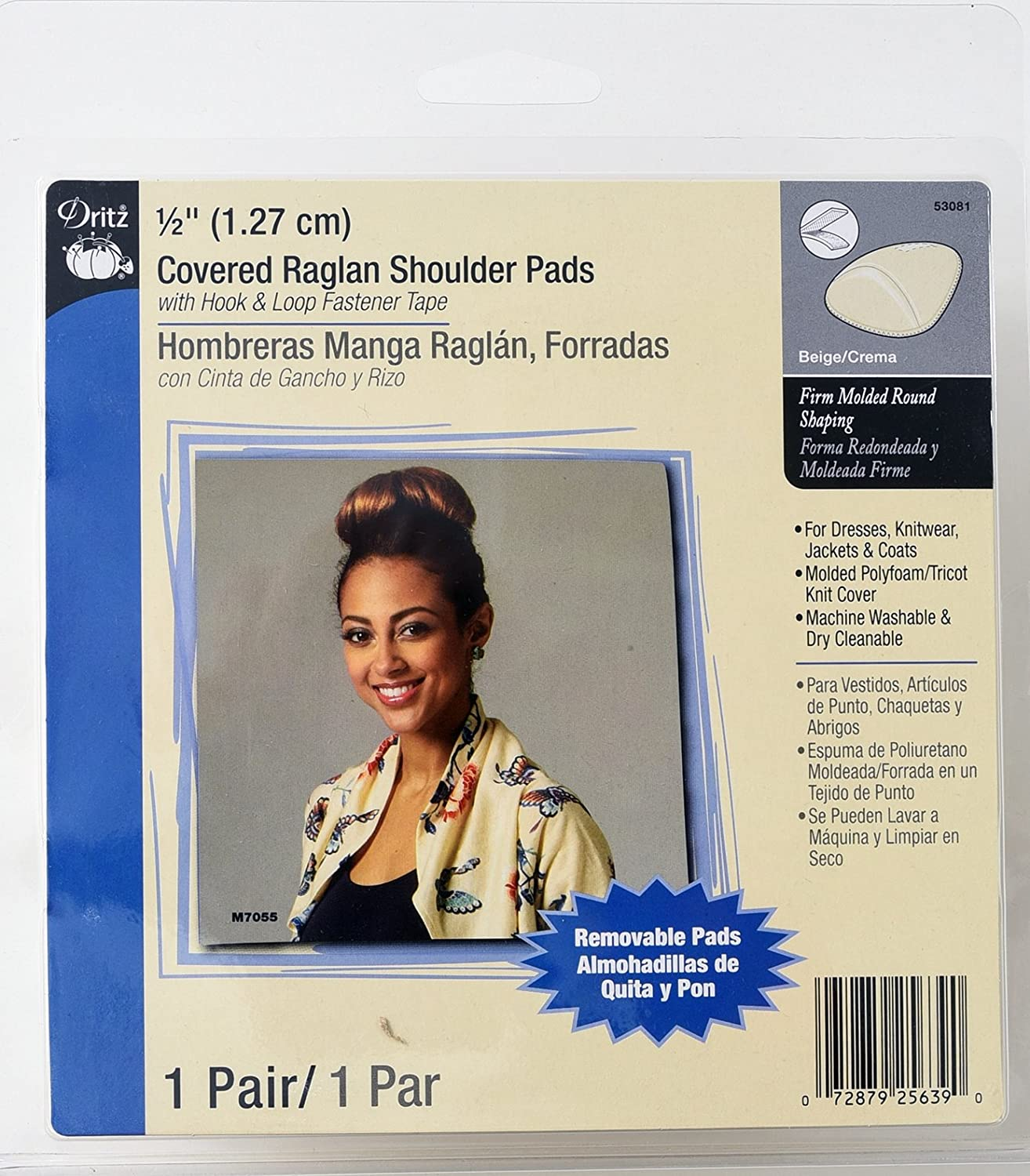 Amazon.com: Dritz 53077-9 Shoulder Pads, Covered Raglan 1/2-Inch White: Arts, Crafts & Sewing