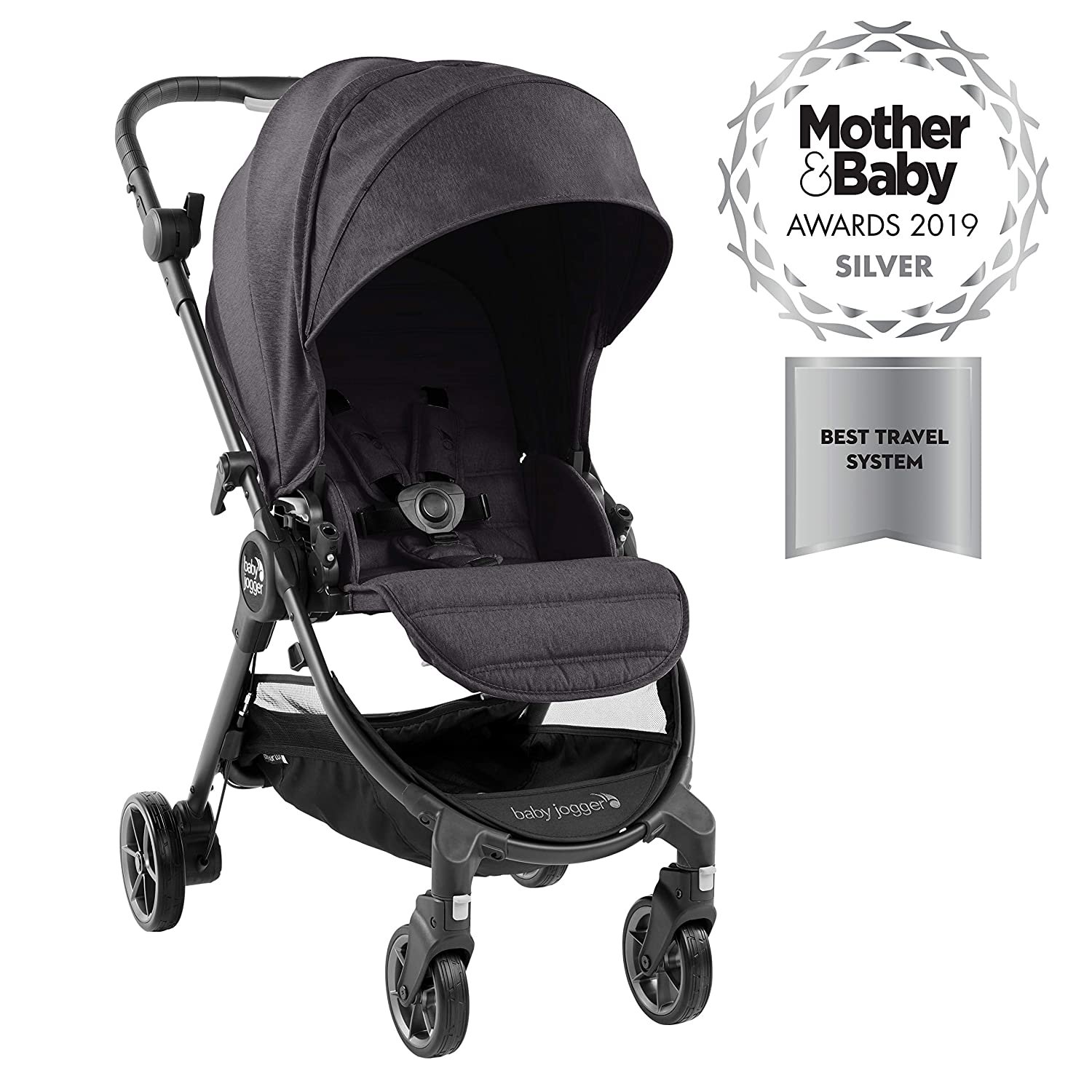 Baby Jogger City Tour Lux Compact Fold Reversible Stroller Granite