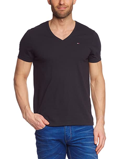 Tommy Jeans Men's Panson Short Crew Logo T Shirt