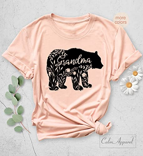 Amazon Com Grandma Bear T Shirt Floral Shirts Pregnancy Reveal