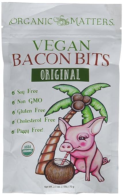 Organic Matters Vegan Bacon Bits - Soy Free | Gluten Free | Non GMO | Organic (2.5 oz bag)