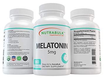 Image Unavailable. Image not available for. Color: NutraBulk Premium Melatonin 5mg ...