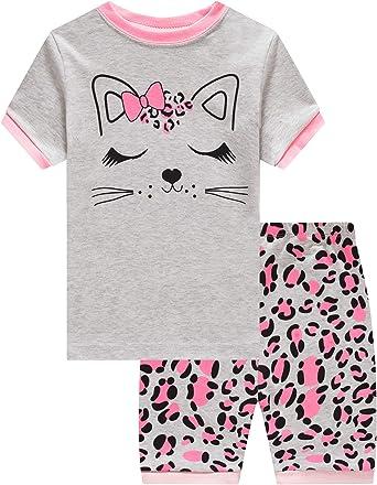 Dolphin&Fish Little Girls Cotton Short Pajamas Summer Kids Clothes Toddler Toddler Pjs Sets