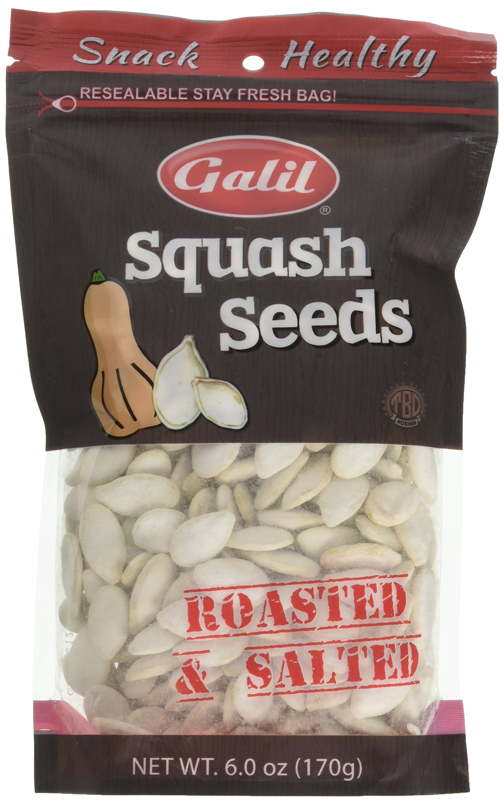 Galil Roasted/Salted Squash Seeds, 6 Ounce
