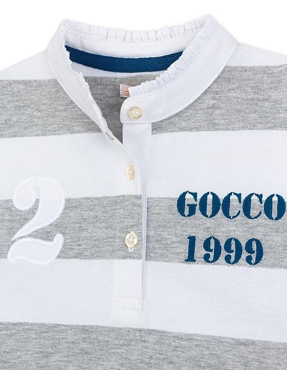 Gocco S73RNCCP601 Polo, Gris (Gris Claro Melange), 7-8 años para ...