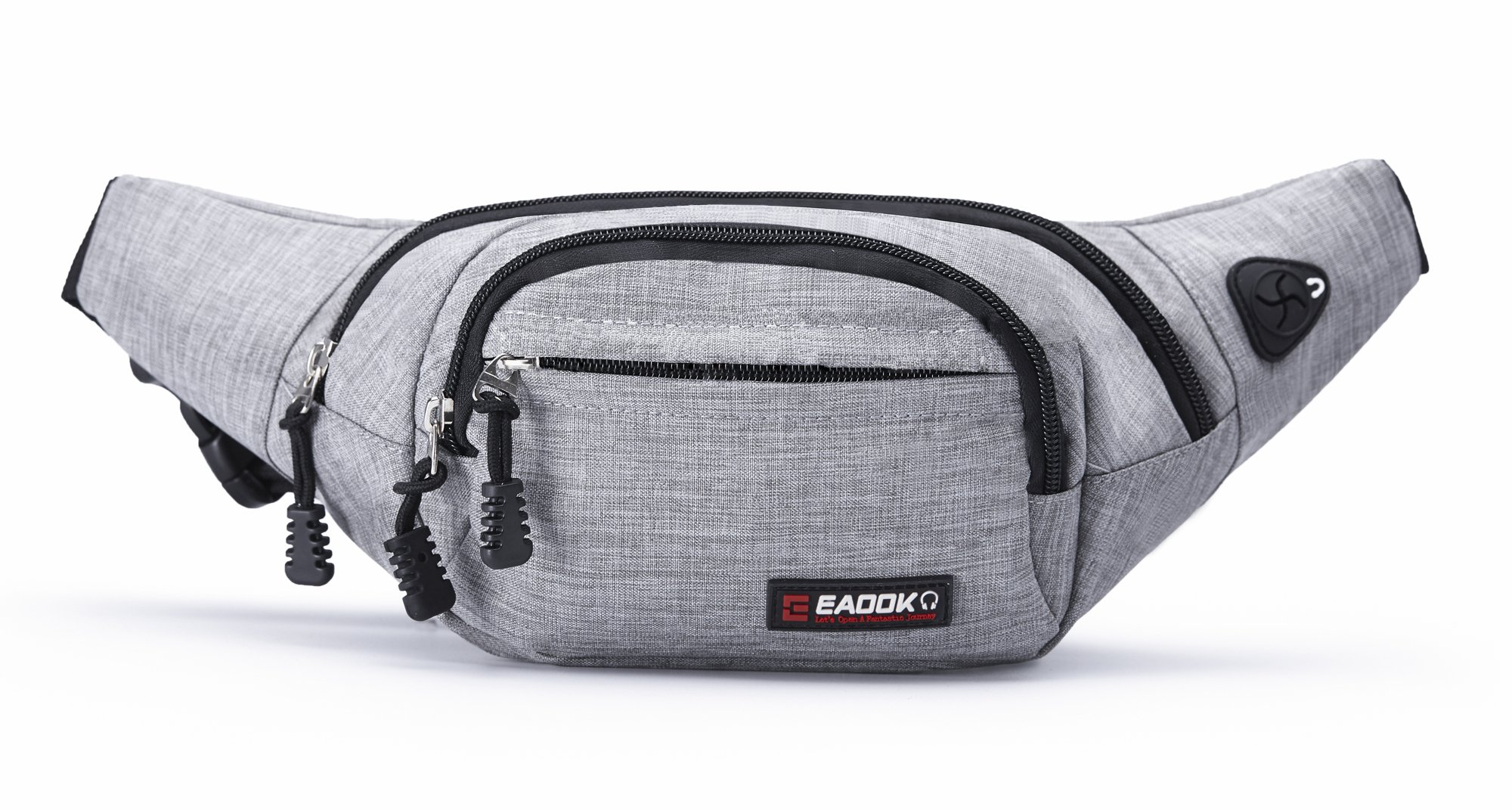 EAOOK Waterproof Travel Belt,Big Fanny Pack for Outdoor Sport/Money Belt(Grey) by EAOOK (Image #1)