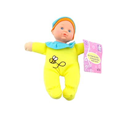 DREAM COLLECTION 7.5 inch My Li'l New Born Soft Baby Doll Yellow Honeybee Outfit: Toys & Games