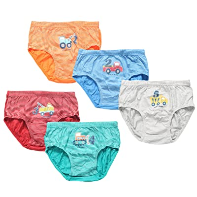 Coodebear Little Baby Girls' Boys' Minnie Five-Pack of Brief Underwear Underpants Training Pants