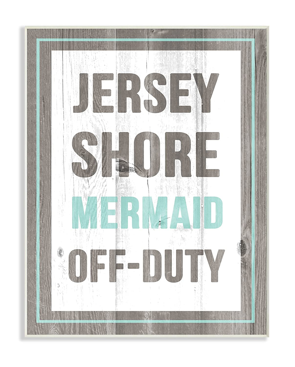 The Stupell Home Décor Collection Jersey Shore Mermaid Off Duty Oversized Wall Plaque Art, 12.5' x 18.5'