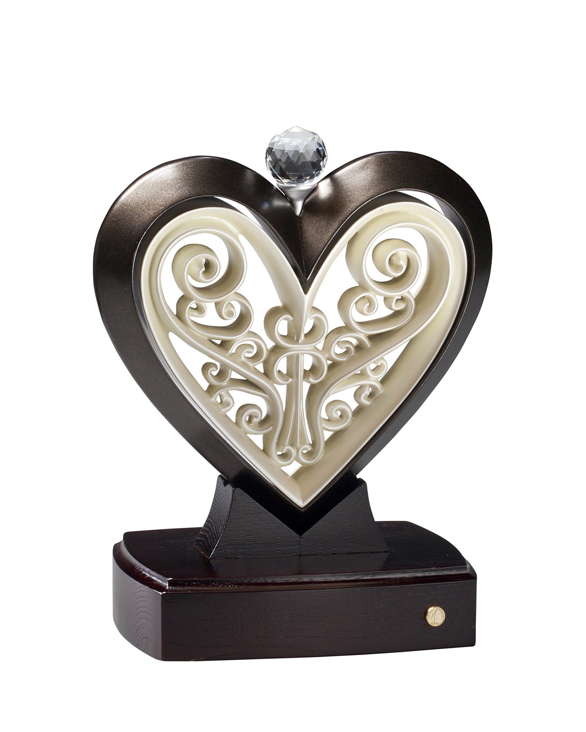 Unity Heart Rubbed Bronze and Ivory by The Unity Cross