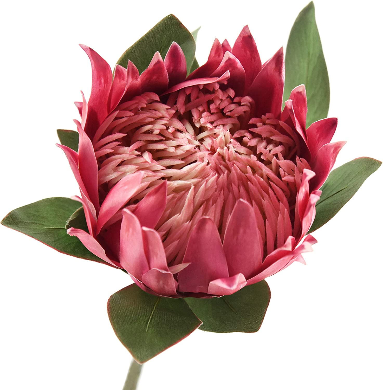 "12-Red Anthurium 20/"" Tall Tropical Plant Bush Silk Flower Home Wedding Decor"