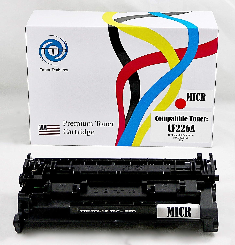 •TTP Compatible MICR Toner Cartridge Replacement for HP 26A (HP CF226A) for use in HP Laserjet Pro M402n M402d M402dn M402dw M426fdw M426dw MFP Printer