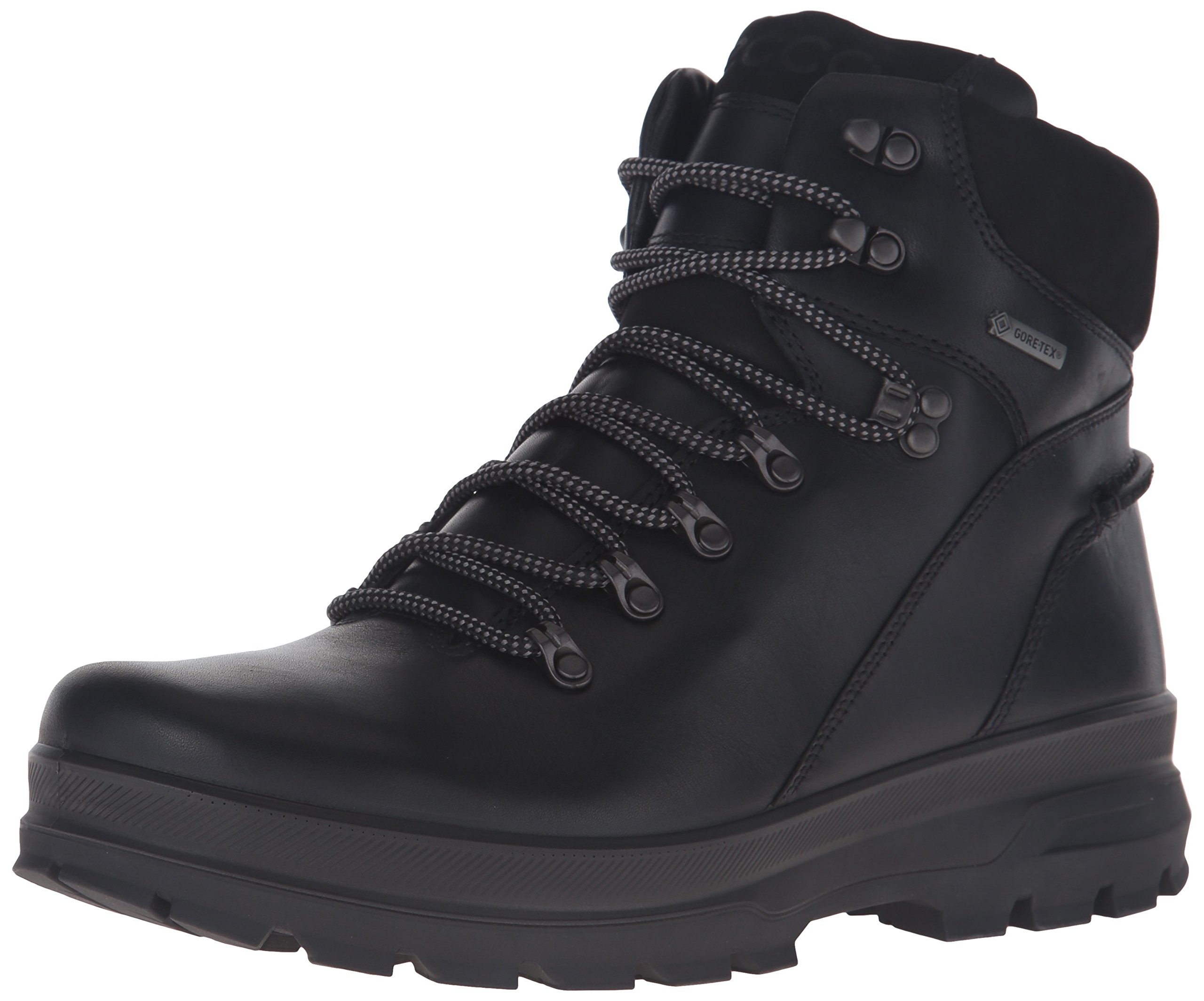 ECCO Men's Rugged Track GTX High Hiking, Black, 43 EU/9-9.5 M US