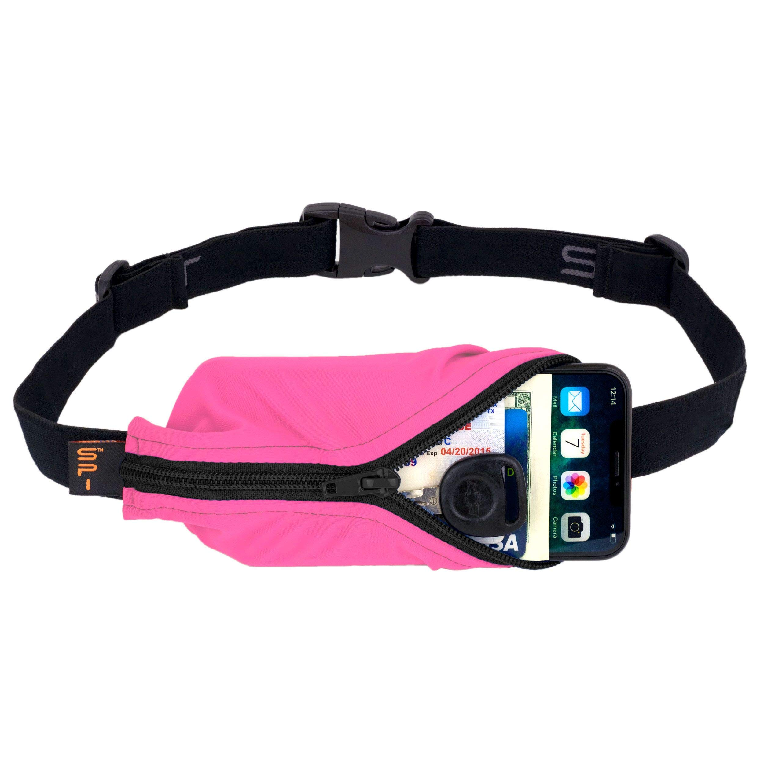 SPIbelt Sports/Running Belt: Original - No-Bounce Running Belt for Runners, Athletes and Adventurers - Fits iPhone 6 and Other Large Phones, Hot Pink by SPIbelt