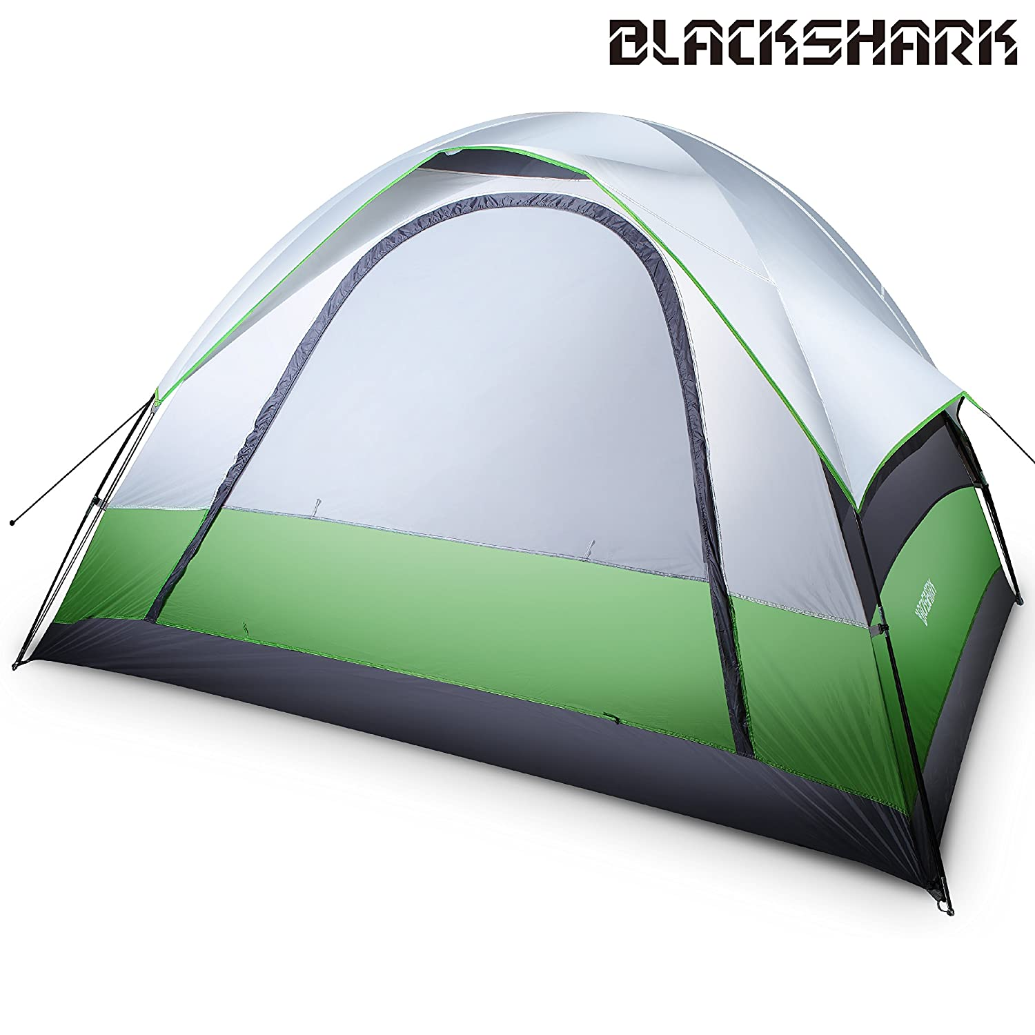 Amazon.com  BlackShark TE02 4-person Lightweight Waterproof Dome Family Tent for Traveling C&ing Hiking with Portable Bag  Sports u0026 Outdoors  sc 1 st  Amazon.com & Amazon.com : BlackShark TE02 4-person Lightweight Waterproof Dome ...