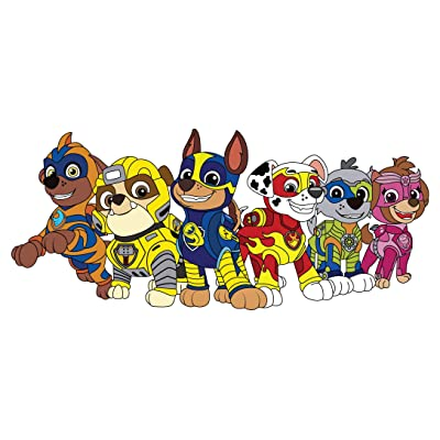 "Mighty Pups Paw Patrol Wall Decal - 40""x18"" - Colored Dog Bedroom Decoration 