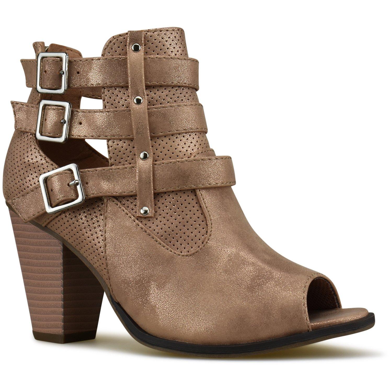 Premier Standard Damen-Stiefeletten mit Schnalle, Blockabsatz