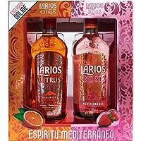 Larios Citrus + Larios Rose con 2 Copas - Total: 1400 ml