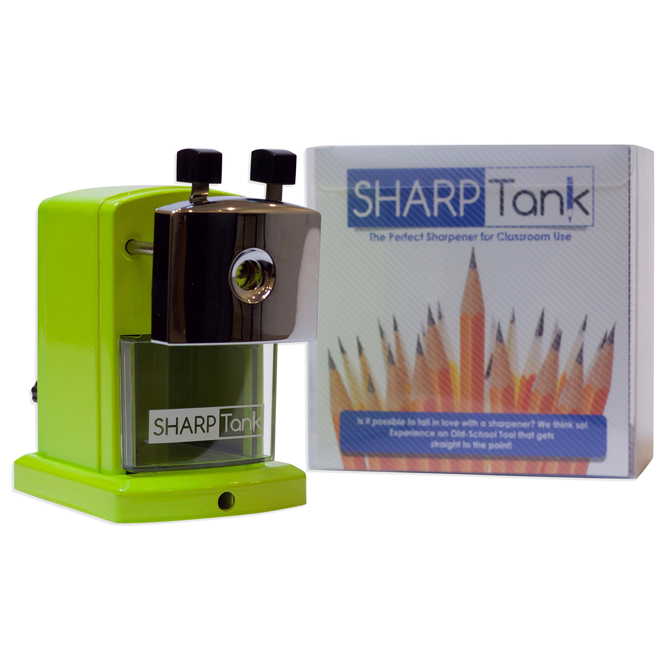 SharpTank - Portable Pencil Sharpener (Key Lime Green) - Compact & Quiet Classroom Sharpener That Gets Straight to The Point! by SHARP TANK (Image #7)