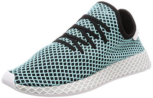 new concept ba3a2 412fb adidas Originals Mens Deerupt Runner Parley CblackBluspi Sneakers-9  UKIndia (