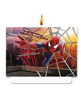 Coolp - Velas de cumpleaños de The Amazing Spiderman, tamaño ...
