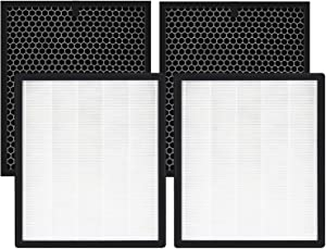 isinlive LV-PUR131 Replacement Filters Compatible for LEVOIT Air Purifier HEPA Filter and Activated Carbon Pre-Filter (2 Pack)