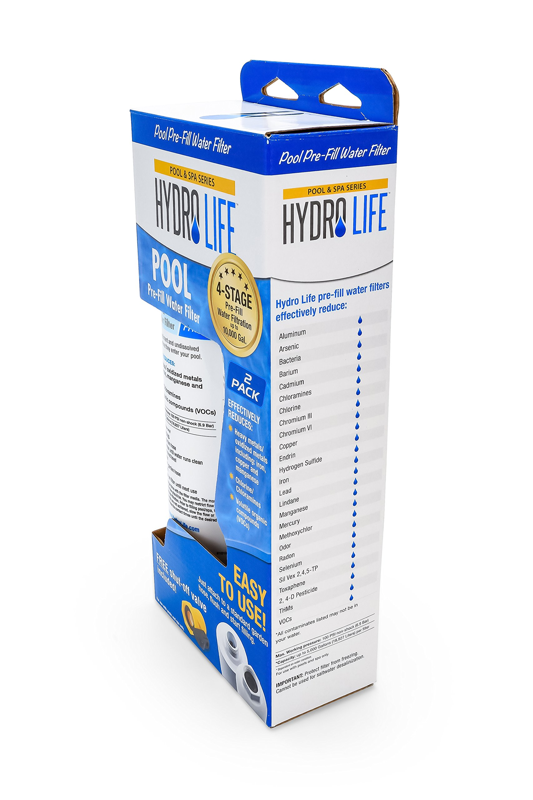 Hydro Life Pool Water Filter - Pack of 2 - Effectively Reduces Levels of Heavy Metals, Chlorine, Chloramines and Volatile Organic Compounds to Make Balancing Chemicals Easier, Model 52802 by Hydro Life (Image #6)