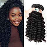 Fairgreat Hair 100% Brazilian Virgin Human Hair Deep Wave Hair Extensions with Lace Closure For Fashion Women