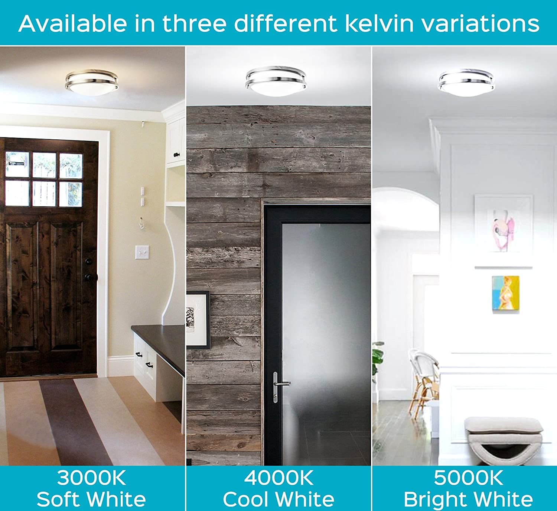 Luxrite geführt Flush Mount Ceiling Light, 10 Inch, Dimmable, 3000K Soft White, 1000 Lumens, 14W Ceiling Light Fixture, Energy Star & Etl - Perfect für Kitchen, Bathroom, Entryway, und Closet