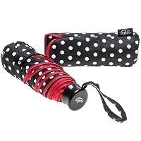 Bolero Parapluie pliant, Bianco e Nero a Pois bordato rosso (multicolore) - OM 99275 bn