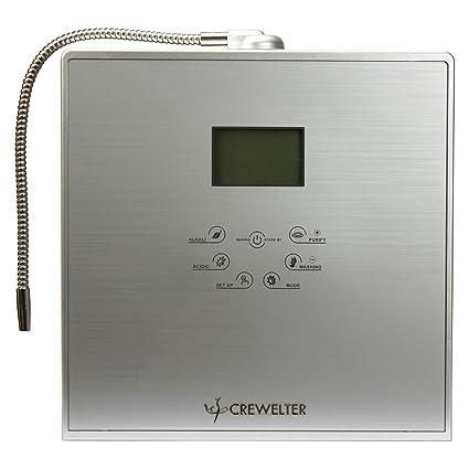 Crewelter 9 Plate Alkaline Water Ionizer-Platinum coated Titanium plates