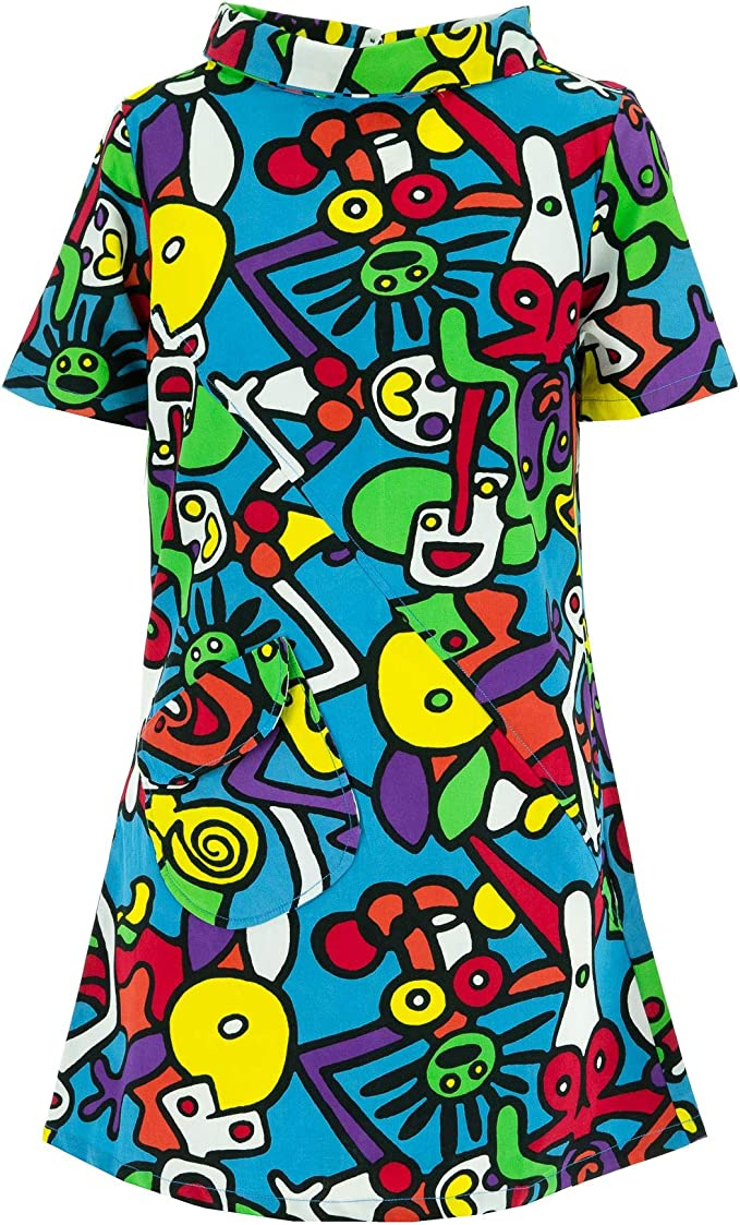 60s Dresses | 1960s Dresses Mod, Mini, Hippie Ministry of Colour Sixties Shift Dress £39.90 AT vintagedancer.com