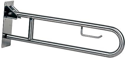 Timblau TIM-52318P/S - Barra abatible inoxidable para baño adaptado a personas mayores y con minusvalías