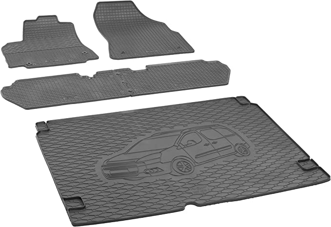 Rigum Boot Mat And Rubber Mats For Citroen Berlingo 5 Seater 2008 2019 Extra Protection Cover Black Auto