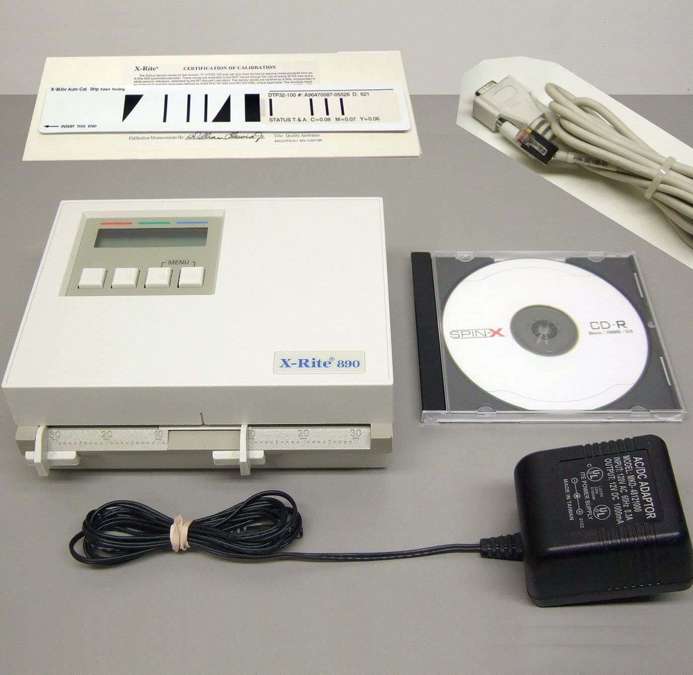 X-Rite 890 Color Photographic Densitometer Power supply /& manual Excellent Cond.