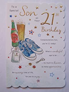 STUNNING TOP RANGE BEAUTIFULLY WORDED SON TWENTY FIRST 21ST BIRTHDAY CARD