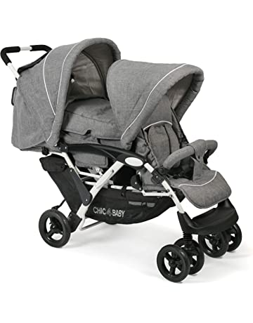 CHIC 4 BABY 274 60 Duo - Carrito para hermanos, color gris, blanco y