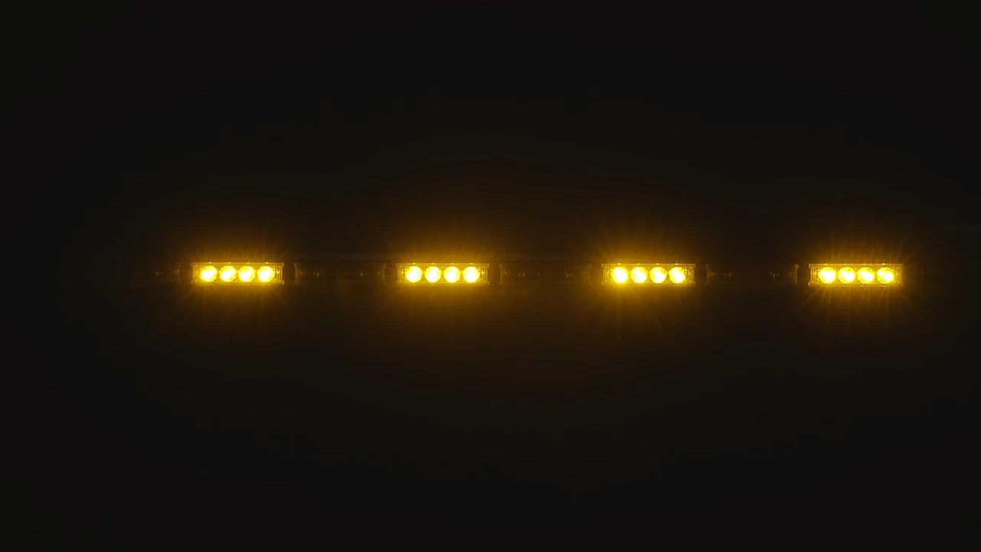 Vertical Mount Federal Signal LF18ES-LED Littlite LED Interior Mount Warning Light 18 Neck 18 Neck