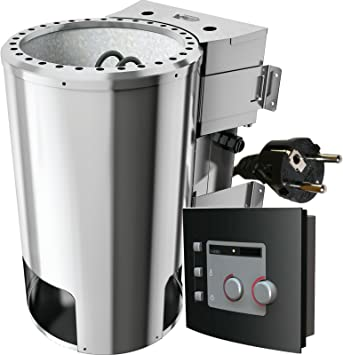 Karibu bio para estufa de sauna 3,6 kW con control 20 kg piedras ...