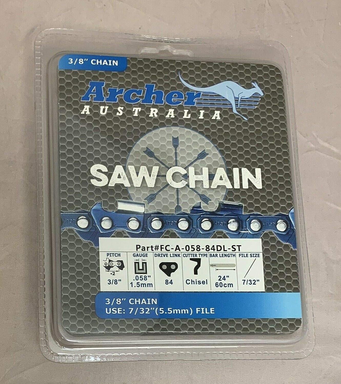 "72JGX084G Oregon 24/"" pro full chisel full skip chainsaw chain 3//8 .050 84 DL"