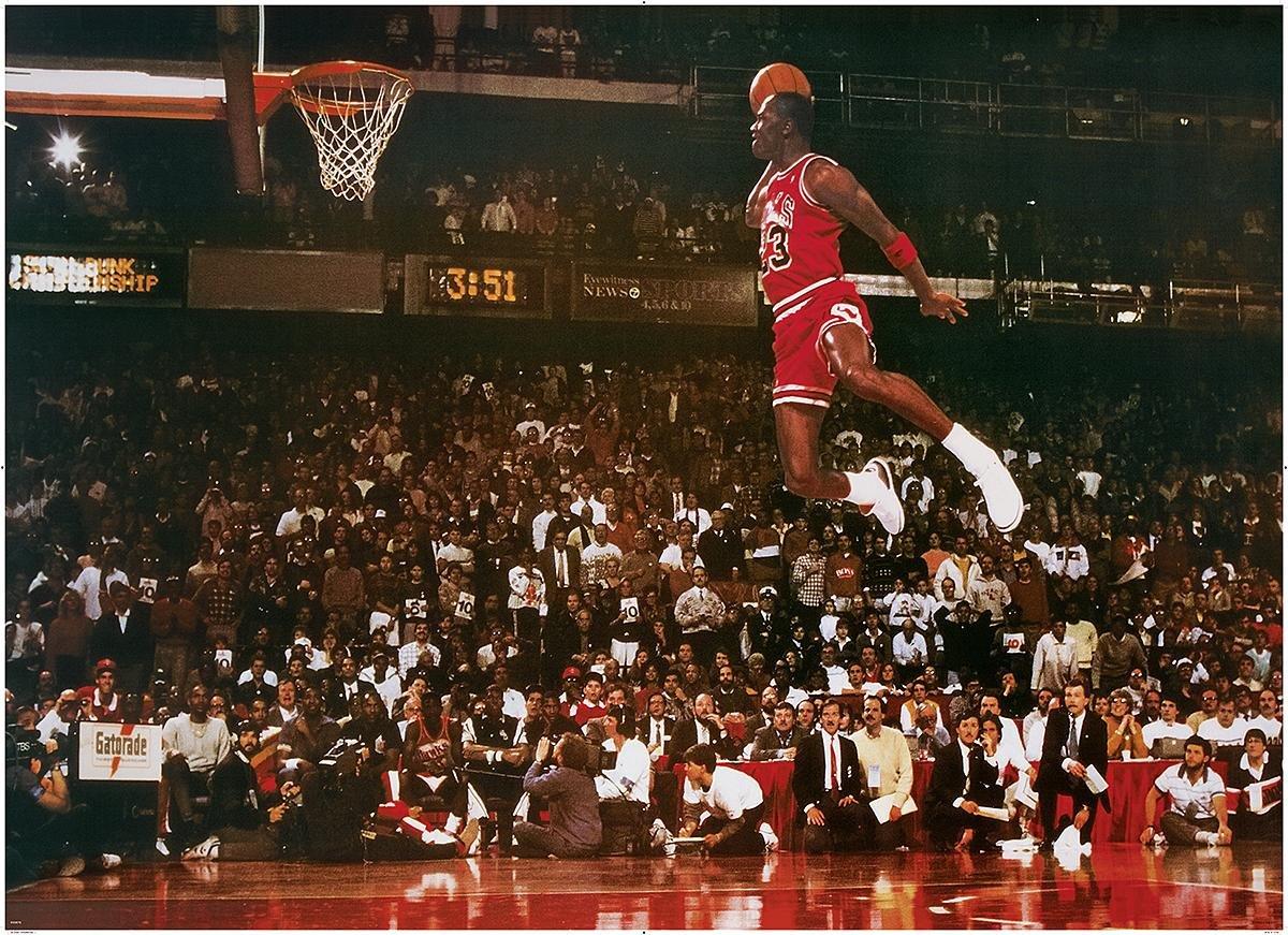 Póster Michael Jordan XXL - Slam Dunk Contest (137cm x 99cm ...