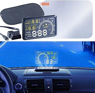 Lescars Obd Display Head Up Display Hud 55c Für Elektronik